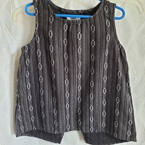 Old navy girl's abstract flapped back tank shirt